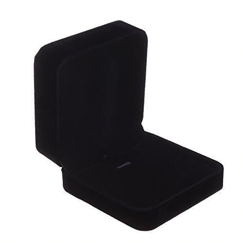 COSMOS Velvet Necklace Pendant Gift Box Jewelry Box (Black Color)