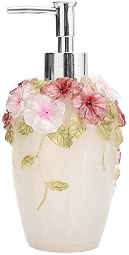 WODEJIA Refillable Soap Dispenser Liquid Soap Dispenser Pump Holds for Bathroom Kitchen Transparent White 350ML