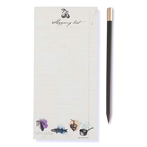 Susi Winter Design & Paper 18033 Shopping List - Bloc magnético con portaminas