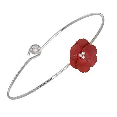 Rue B - Brazalete de 6 cm de diámetro con flor de...