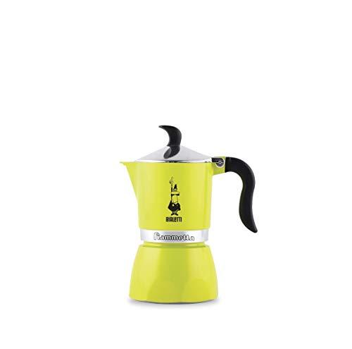 Bialetti 0004792 Espressokocher Fiammetta für 3 Tassen in limetten-grün, Aluminium, 30 x 20 x 15 cm