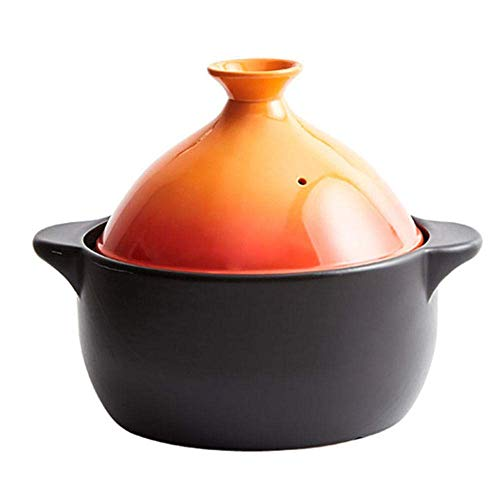 PIVFEDQX Casserole Casserole Dishes with Lid – Taji Pot Household Casserole Soup Gas Special Ceramic Casserole Stew Pot-2.4L