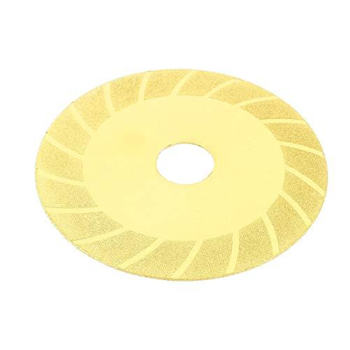 X-DREE Disco de rueda de corte de pulido de diamante de cerámica de 100mm de diámetro y tono dorado(100mm Dia Glass Ceramic Diamond Polishing Cutting Wheel Disc Gold Tone