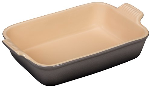 Le Creuset Heritage Stoneware Rectangular Dish, 12-by-9-Inch, Oyster