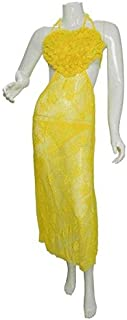فستان لانجري للنساء , قياس واحد , اصفر , k-1026-9017