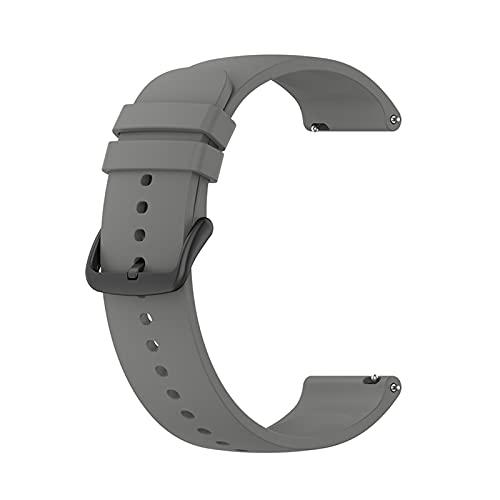 PAZHOU Correa for Samsung Galaxy Watch 4 Classic 3 SmartWatch Watch Band 20mm Watch Strap for Galaxy Watch 4 Classic 42mm 46mm 40mm 44mm (Band Color : Gray, Size : Galaxy Watch 46mm)