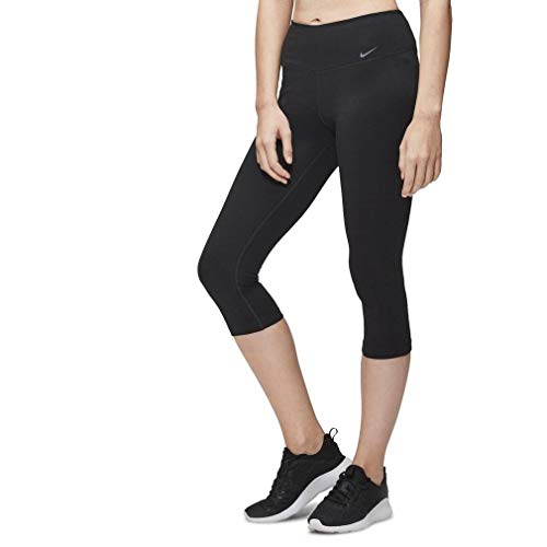 Nike Women's Legend 2.0 Tight Dri-Fit Cotton Capri Black/Black/White Pants SM X 19