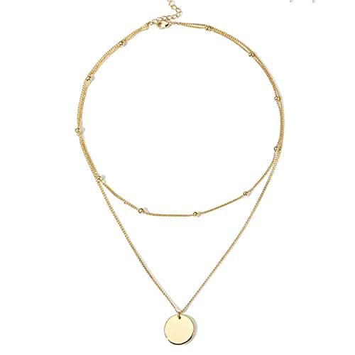 LIHELEI Donna Collana Lunga, Argento Collana Girocollo per Donna Ragazza Gioielli Accessori con Confezione Regalo - Oro rose