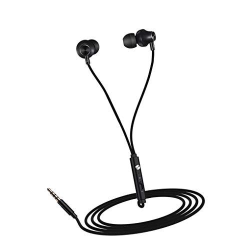 kexinda In-Ohr-Kopfhörer Telefon-Stereo-Headset Metall Wired Kopfhörer HiFi Eingebautes Mikrofon