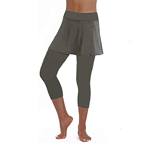 Longra Yoga Mujeres! Niñas Charm Patrón Falda Leggings Tenis Femenino Vintage Pantalones...