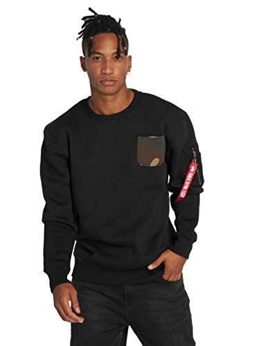 Alpha Industries Camo Pocket Sweatshirt Schwarz L