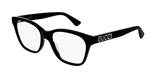 Gucci GG 0420O 001 Black Plastic Square Eyeglasses 52mm