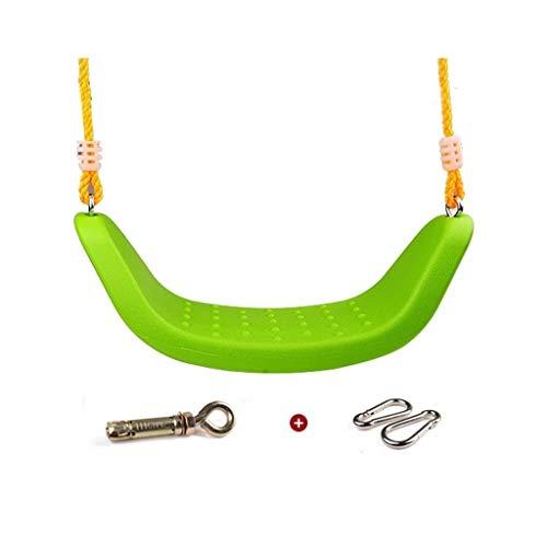 Asientos columpios La placa curvada del asiento del columpio interior for columpios, adecuado for niños de 6 años o más, puede soportar 200 kg Columpio de patio de recreo ( Color : Green , Size : B )