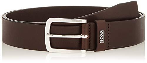 BOSS JOR-Logo_sz35 Cinturón, Marrón (Dark Brown 202), 95 (Talla del fabricante: 80) para Hombre