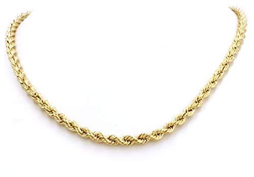 14 Karat / 585 Gold Kordelkette Gelbgold Unisex - 2.50 mm. Breit - Länge wählbar (50)