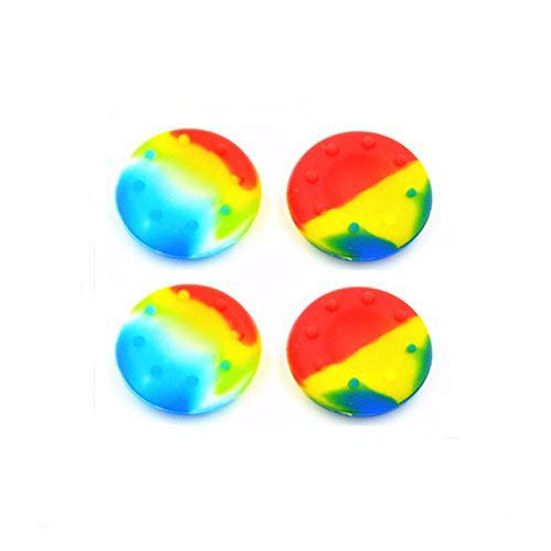 4 x Rainbow Controller Analog Thumbstick Grip Cover Caps For Sony PS3 PS4 XBOX ONE 360 Wii U