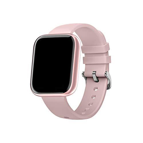 XXY Pink Femenino Nuevo Monitor De Ritmo Cardíaco Reloj Inteligente Hombres Sleep Sleep Rastreador Deportivo Mujeres Smartwatch para Android iOS (Color : Silica Pink)