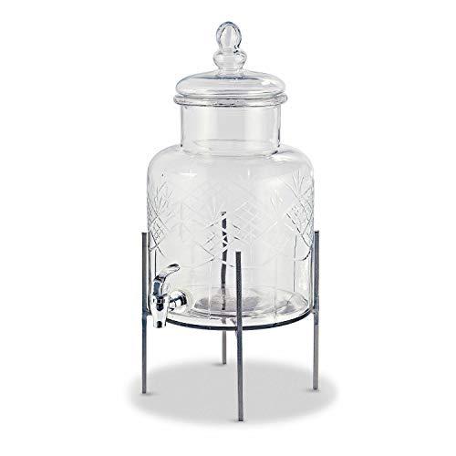 Loberon Getränkespender Hagens, Glas, H/Ø ca. 49/21.5 cm, klar