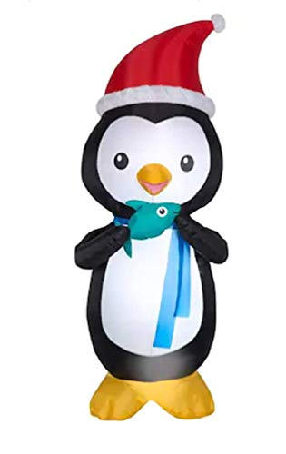 Gemmy Animatronic Lighted Penguin Christmas Airblown Inflatable 6 Foot