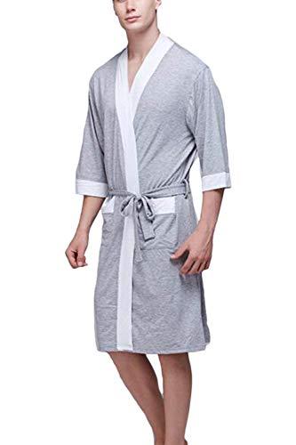 Badjas Heren lichte badjas Comfortabele huisjas Loungewear jongens Homewear ochtendjas Lente zomer