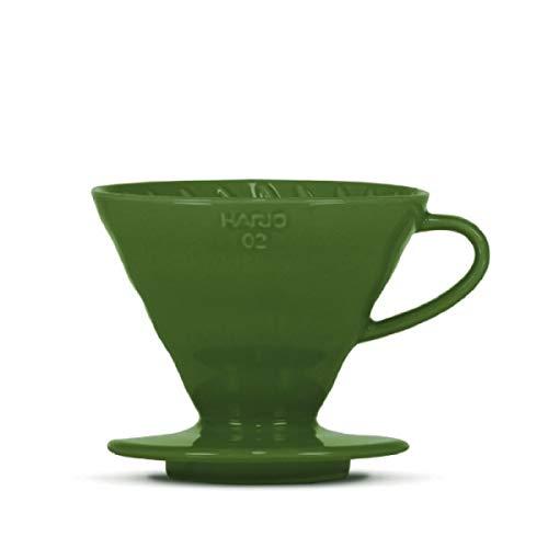 Kaffeefilter/Handfilter V60 aus Porzellan Größe 02 Dark Green von HARIO