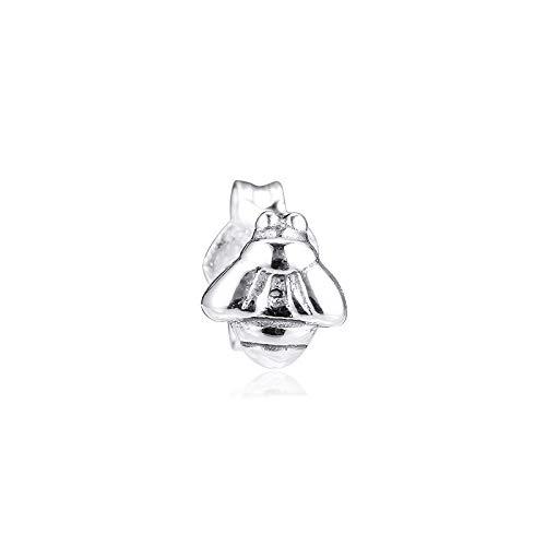 Diy Fits For Original Pandora Bracelets 925 Sterling Silver My Bumblebee Single Stud Earrings For Women Woman Earring Jewelry Brincos