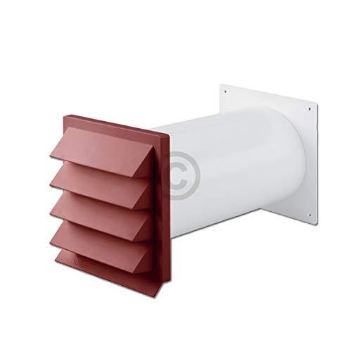 TronicXL Premium Mauer Durchführung Universal Mauerdurchführung 100er 100mm rot für Dunstabzugshaube Trockner Klimaanlage Zubehör
