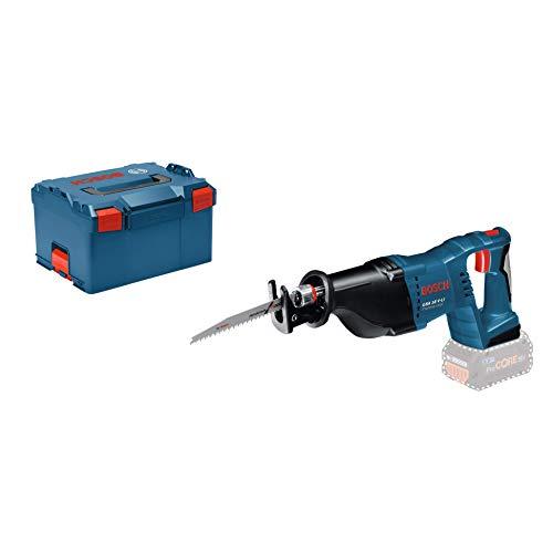 Bosch Professional 18V System Akku Säbelsäge GSA 18 V-LI (inkl. 2xSäbelsägeblatt (Holz/Metall), ohne Akkus und Ladegerät, in L-BOXX 238)