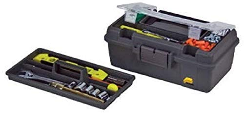 Plano Molding 114-002 13-Inch Compact Tool Box, Graphite Gray with Black Handle and Latches - 1 Pack