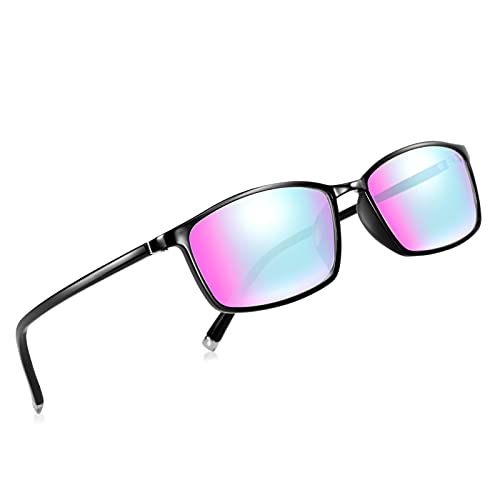 DYDZSH Color Blindness Glasses for Men,Color Blind Glasses That Make People to See Color Both Outdoor and Indoor Use for Red, Green, Blue, Yellow, Purple (Color : Black)