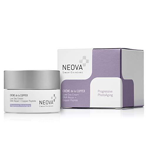 NEOVA SmartSkincare Creme de la Copper Moisturizing Cream with DNA Repair Enzymes and Copper Peptide Complex for All Day Hydradtion. Dermatologist Tested.