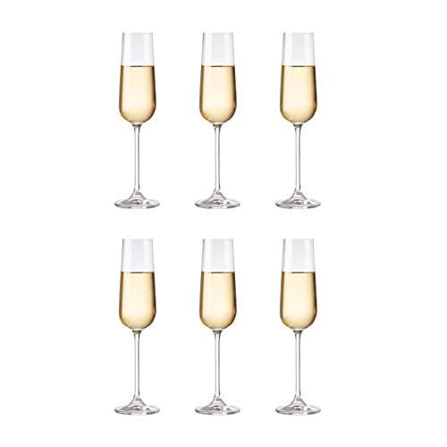 Copas De Copa De Champán De Cristal Sin Plomo, 240 Ml, Transparentes (juego De 6), Perfectas Para El Hogar, Restaurantes Y Fiestas