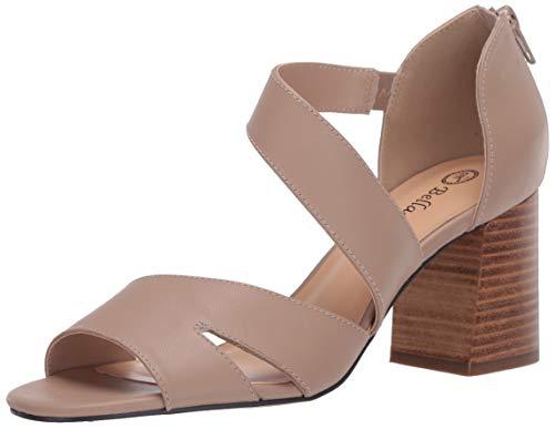 Bella Vita womens Fashion Dress Heeled Sandal,Nude Leather,8.5 W US