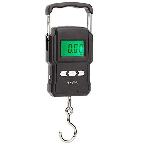 Pesca Digital Scale Hanging Display Lcd Elettronico Con Nastro Adesivo Di Misurazione Di Temperatura Portatili Batterie Compreso Aaa Per Esterni