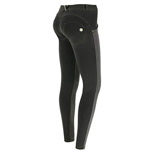 FREDDY Pantalone WR.UP® Skinny Vita e Lunghezza Regular in Denim strappato - Black - Medium