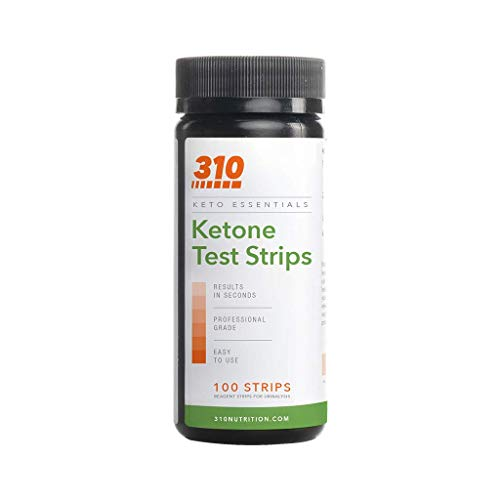 Ketone Testing Strips by 310 Nutrition (100 Strips) - Test Ketosis Levels During Low Carb Keto Diet - Accurate Urine Test for Ketogenic Measurement 1