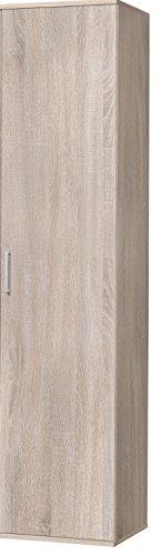 WILMES Ronny Mehrzweckschrank, Holzwerkstoff, Sonoma Eiche Dekor, 39x50x178 cm