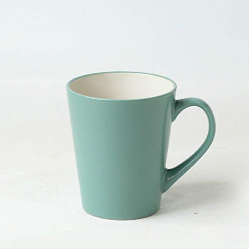 Simple Nordic Matte Conical Mug with Cover Spoon ins Simple Korean Art Nordic Breakfast Cup Coffee Cup Ceramic Cup