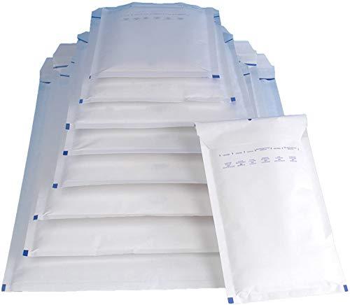 100 Luftpolsterversandtaschen Luftpolstertaschen Gr. A/1 weiß (120 x 175 mm) DIN A6