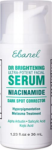 Ebanel Dark Spot Remover for Face 2% Hydroquinone Serum Skin Lightening Dark Spot Corrector for Melasma and Hyperpigmentation Treatment with Azelaic Acid, Kojic Acid, Alpha Arbutin