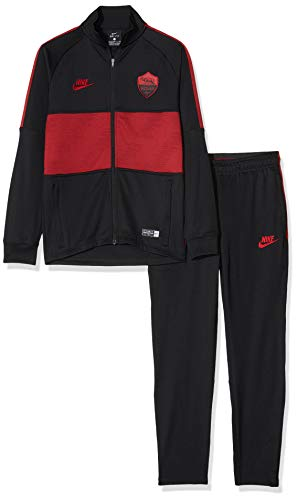 Nike A.S. Roma Strike Trainingsanzug, Unisex, für Kinder, Black/Team Crimson/Team Crimson, L