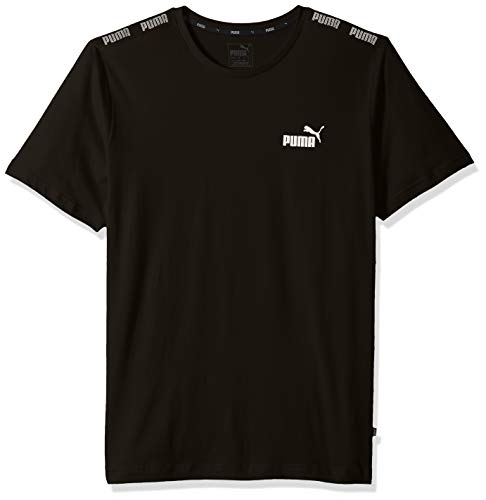 PUMA Men's Amplified Tee Shirt, Cotton Black, S