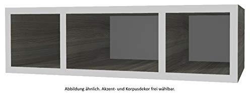 PELIPAL Neutrale Möbel Wandregal/T: 33 cm/EM-WR 20-03-70-33