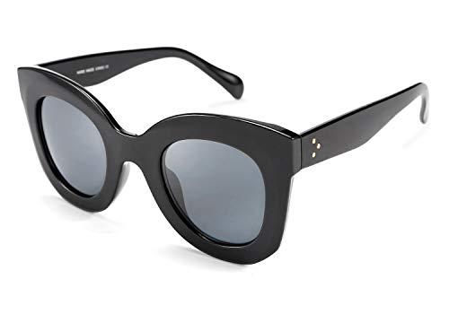 FEISEDY B2572 - Gafas de sol de gran tamaño con cuerno cuadrado, estilo retro, gruesas, con marco grueso y llamativo.