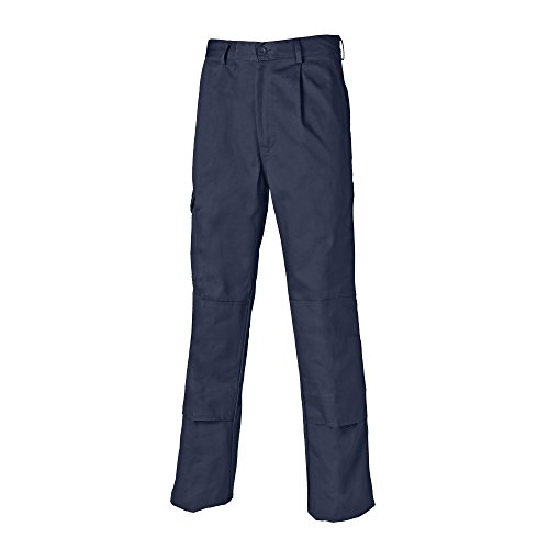 Dickies - Pantalones de trabajo Modelo Super Hombre caballero (Pierna corta) (Cintura 122cm/Azul real)