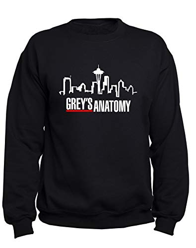 EUGINE DREAM Grey's Anatomy Logo Greys Anatomy Tv Series Unisex Sweatshirt Schwarz M