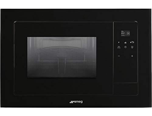 Smeg FMI120N1 - Microondas (Integrado, Microondas con grill, 20 L, 800 W, Tocar, Negro)