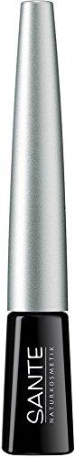 Sante natuurlijke cosmetica dip eyeliner nr. 01 black, vloeibare eyeliner, fijne speciale viltpunt, karmijnvrij, natuurlijke make-up, 3 ml