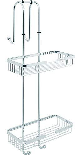 nicol. Duschregal Nero Duschkorb zum EIN-hängen ohne Bohren Edelstahl verchromt Duschablage rostfrei (2 Ablagen)