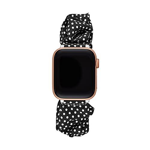 Kate Spade New York Satin Band for 38/40mm Apple Watch Series 1-6, Color: Black/White Polka Dot, (Model: KSS0108)